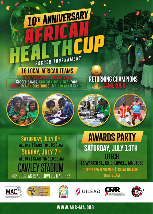 10th Anniversary African Health Cup Soccer Tournament flyer