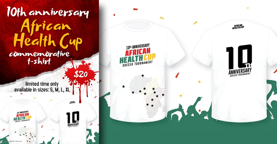 10th Anniversary African Health Cup Commemorative T-shirt